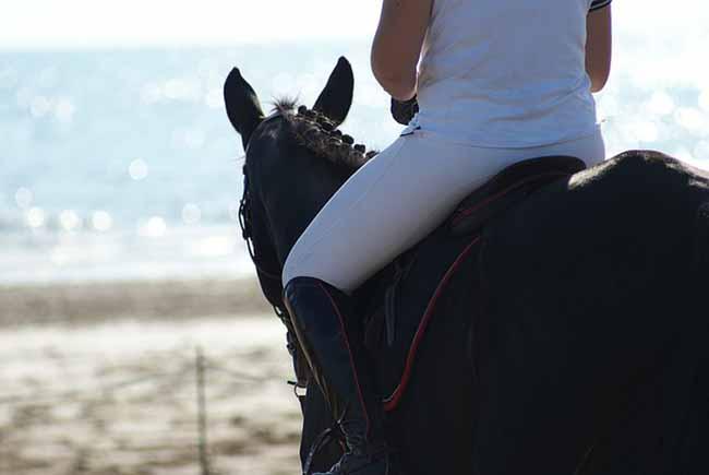 Une balade à cheval sur la plage