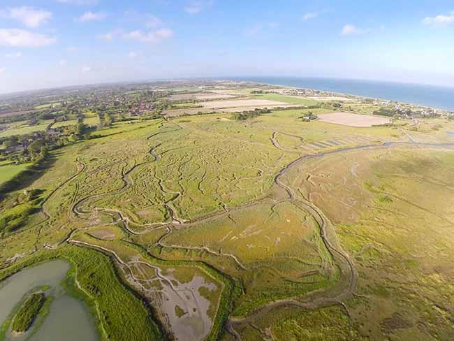 Vue aérienne du havre de Geffosses