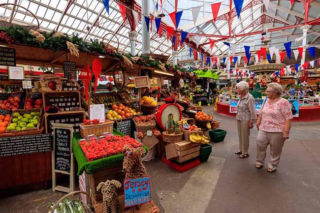 Le magnifique marché couvert à Jersey, joyaux des îles anglo-normandes