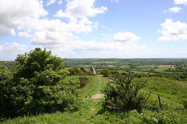 Superbe vue en haut du Mont Doville dans le Cotentin