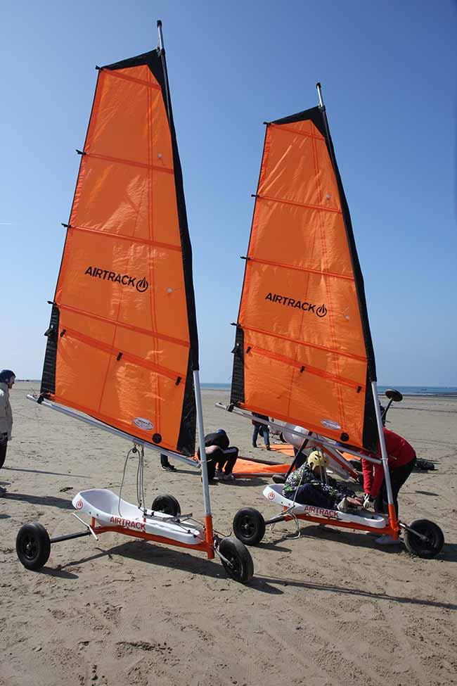 L'activité char à voile un sport idéal sur nos plages