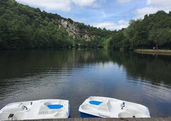 L'activité pédalos en été aux étangs