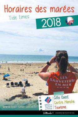 Couverture du guide des horaires des marées 2018